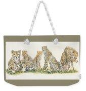 African Cheetah Weekender Tote Bag by Barbara Keith