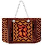 African Collage Rust Weekender Tote Bag