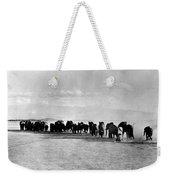 African Elephant Herd Weekender Tote Bag