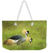 African Gray Crown Crane Weekender Tote Bag