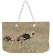 African Grey Crown Crane Weekender Tote Bag