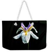 African Iris Raindrops Weekender Tote Bag