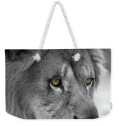African Lion #8 Black And White  T O C Weekender Tote Bag