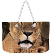 African Lions Parenthood Wildlife Rescue Weekender Tote Bag