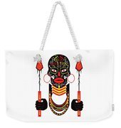 African Motive Background With Ornament Details And Spears  Weekender Tote Bag