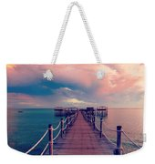 African Sunrise Cotton Candy Skies Weekender Tote Bag