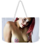 After Dark Model Mary Ann W Sparkles Weekender Tote Bag