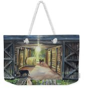After Hours In Pa's Barn - Barn Lights - Labs Weekender Tote Bag