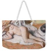 After The Bath Or Reclining Nude Weekender Tote Bag