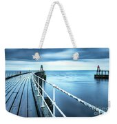 After The Shower Over Whitby Pier Weekender Tote Bag
