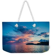 Afterglow On The Lakeshore Weekender Tote Bag