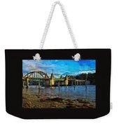 Afternoon At Siuslaw River Bridge Weekender Tote Bag