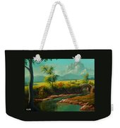 Afternoon By The River With Peaceful Landscape L A S Weekender Tote Bag