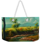 Afternoon By The River With Peaceful Landscape L B Weekender Tote Bag