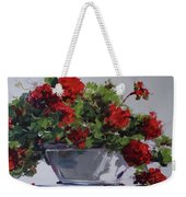Afternoon Geraniums Weekender Tote Bag