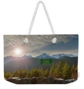 Afternoon Sun Over Tantalus Range From Lookout Weekender Tote Bag