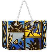 Art Deco In Blue Weekender Tote Bag