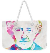 Agatha Christie Watercolor Tribute Weekender Tote Bag