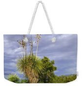 Agave Cactus And A Purple Sky Weekender Tote Bag