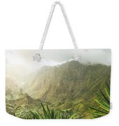 Agave Plants And Rocky Mountains. Santo Antao. Weekender Tote Bag