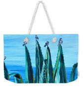 Agave With Sparrows Weekender Tote Bag