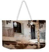 Aged Stucco Building Balcony With Terracotta Roof Weekender Tote Bag
