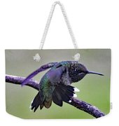 Aggressive Behavior - Ruby-throated Hummingbird Weekender Tote Bag