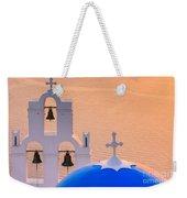 Aghioi Theodoroi Church At Firostefani, Santorini Weekender Tote Bag