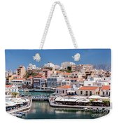 Agios Nikolaos Lagoon Entrance Weekender Tote Bag