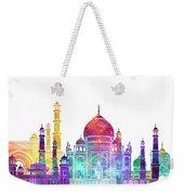 Agra Landmarks Watercolor Poster Weekender Tote Bag