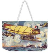 Air Battle, 1900s French Postcard Weekender Tote Bag