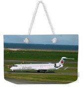 Air Canada Express Crj Taxis Into The Terminal Weekender Tote Bag