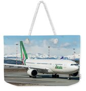 Airbus A330 Alitalia With New Livery  Weekender Tote Bag
