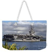Aircraft Carrier Uss Abraham Lincoln Weekender Tote Bag