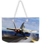 aircraft military F 18 Hornet Weekender Tote Bag