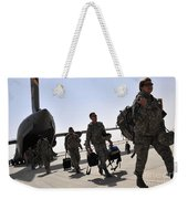 Airmen Arrive In Iraq In Support Weekender Tote Bag