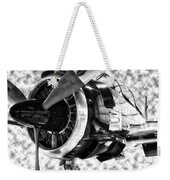 Airplane Propeller And Engine T28 Trojan 02 Bw Weekender Tote Bag
