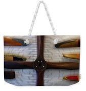 Airplane Wooden Propellers 01 Weekender Tote Bag