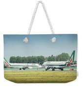 Airplanes That Appear To Be Kissing Weekender Tote Bag
