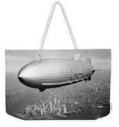 Airship Flying Over New York City Weekender Tote Bag