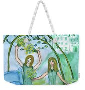 Airy Four Of Wands Illustrated Weekender Tote Bag