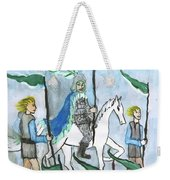 Airy Six Of Wands Illustrated Weekender Tote Bag