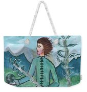 Airy Two Of Wands Illustrated Weekender Tote Bag