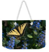 Ajuga With Tiger Butterfly Weekender Tote Bag