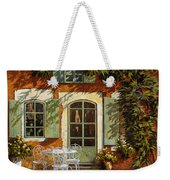 Al Fresco In Cortile Weekender Tote Bag by Guido Borelli
