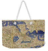 Al Idrisi World Map 1154 Weekender Tote Bag by SPL and Photo Researchers