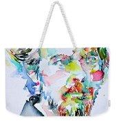 Alan Watts Watercolor Portrait Weekender Tote Bag