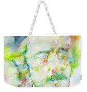 Alan Watts - Watercolor Portrait.3 Weekender Tote Bag