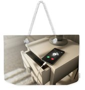 Alarming Cellphone Next To Bed Weekender Tote Bag