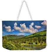 Alaska Digital Paint Weekender Tote Bag
